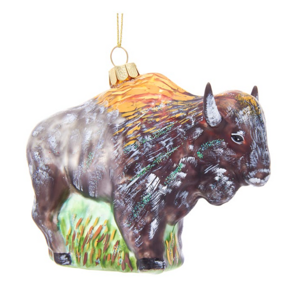 GLASS ORNAMENT - BUFFALO
