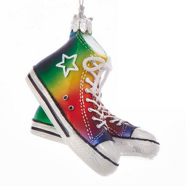 GLASS ORNAMENT - RAINBOW SNEAKERS