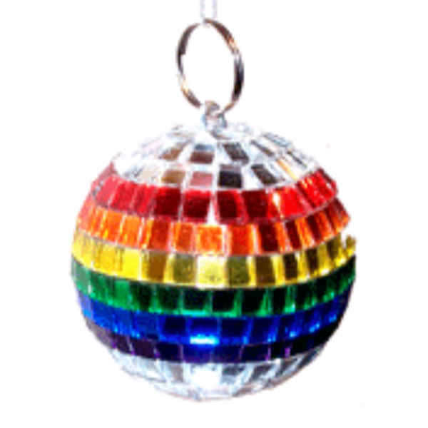 ORNAMENT - RAINBOW MIRROR BALL