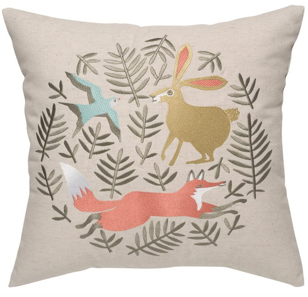 HILL & DALE EMBROIDERED PILLOW