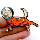 SPACE DOG ENAMEL PIN