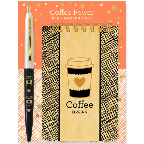 COFFEE POWER NOTEPAD GIFT SET