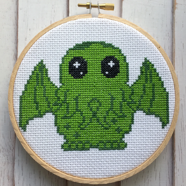 CUTE CTHULHU COUNTED CROSS-STITCH KIT