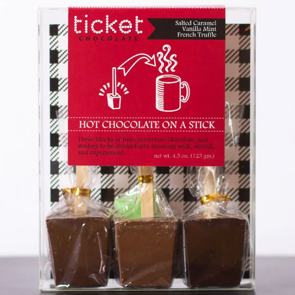 HOT CHOCOLATE ON A STICK - 3 PACK