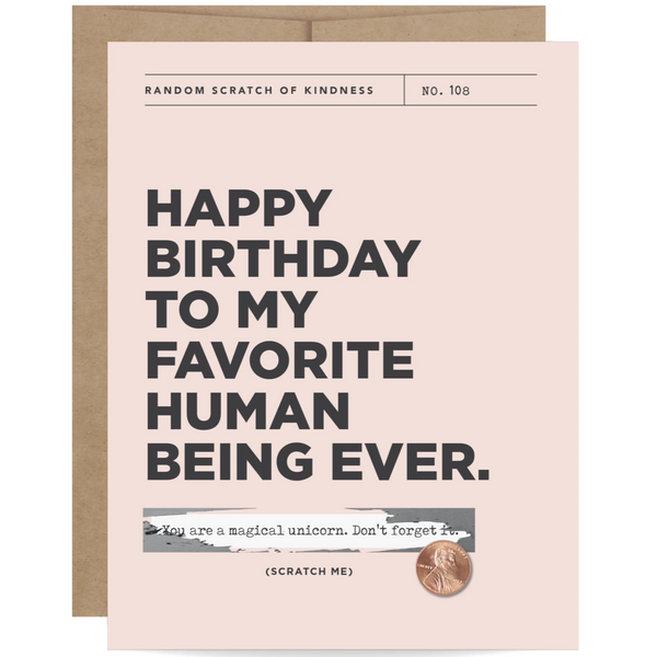 FAVORITE HUMAN SCRATCH-OFF BIRTHDAY CARD