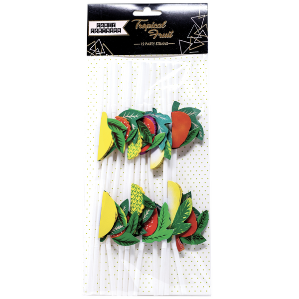 DELUXE TROPICAL FRUIT STRAWS