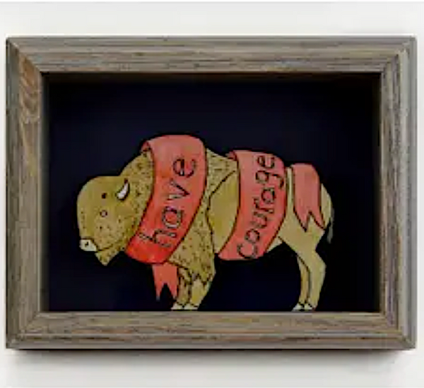 SHADOW BOX ART - HAVE COURAGE BUFFALO