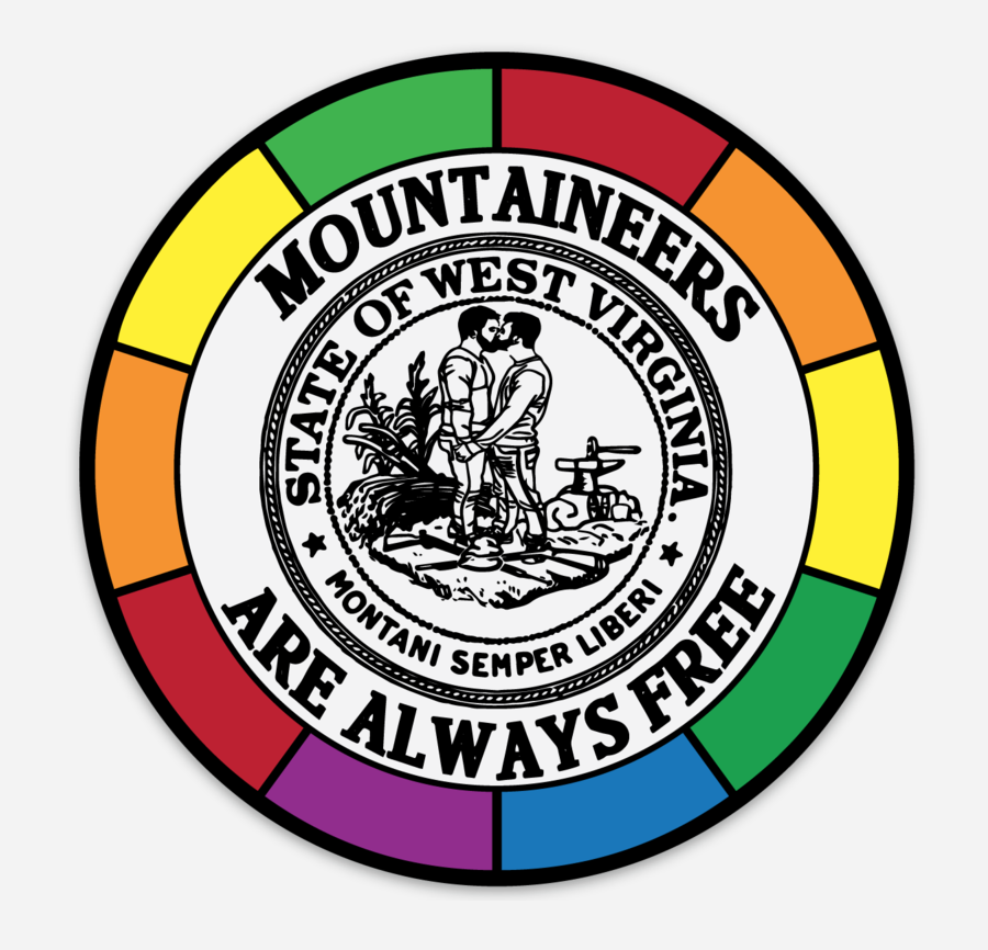WV MOUNTAINEERS ARE ALWAYS FREE PRIDE - STICKER