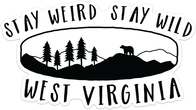 STAY WEIRD ~ STAY WILD STICKER
