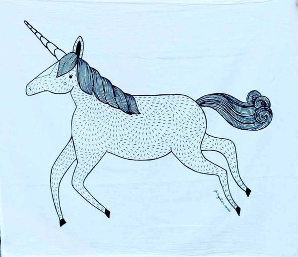 UNICORN GINGIBER TEA TOWEL