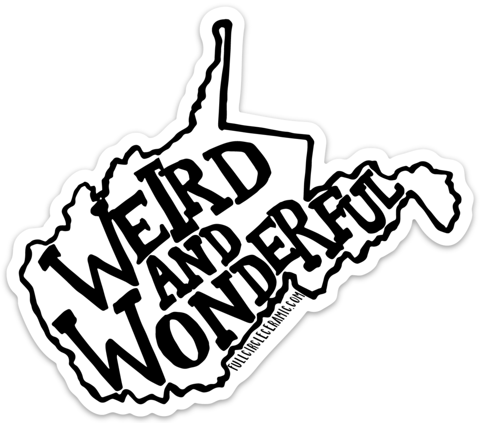 WEIRD & WONDERFUL WV STICKER
