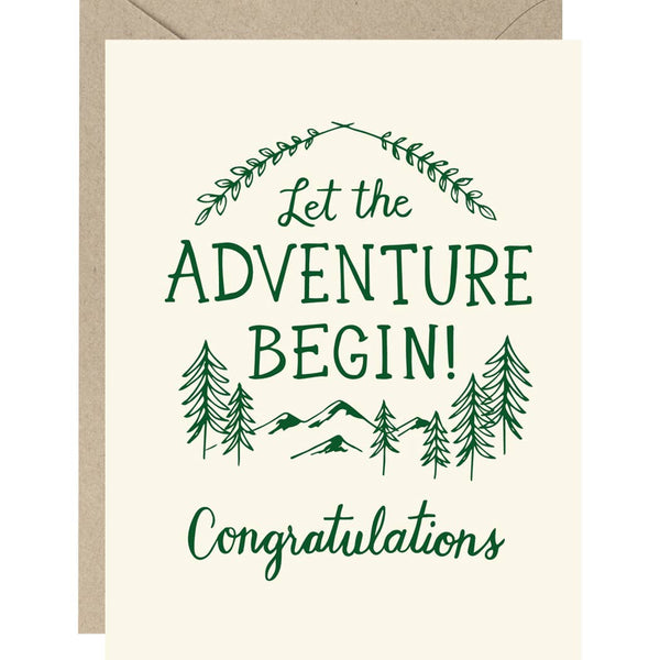 LET THE ADVENTURE BEGIN! GRADUATION CARD