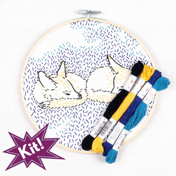 DREAMING FOXES EMBROIDERY KIT