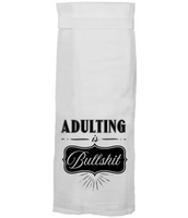 ADULTING IS BULLSHIT TEA TOWEL