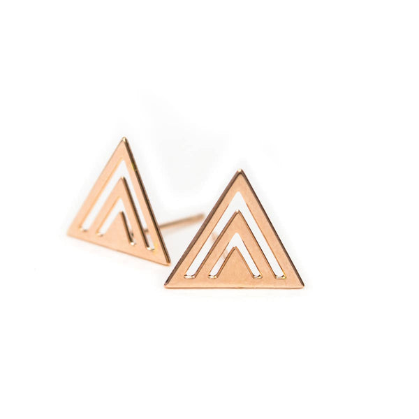 GEO ALPINE STUD EARRINGS
