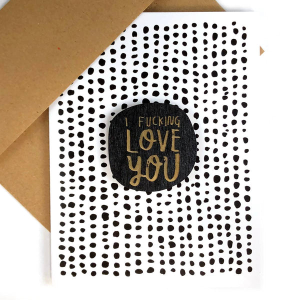 I FUCKING LOVE YOU CARD WITH MAGNET