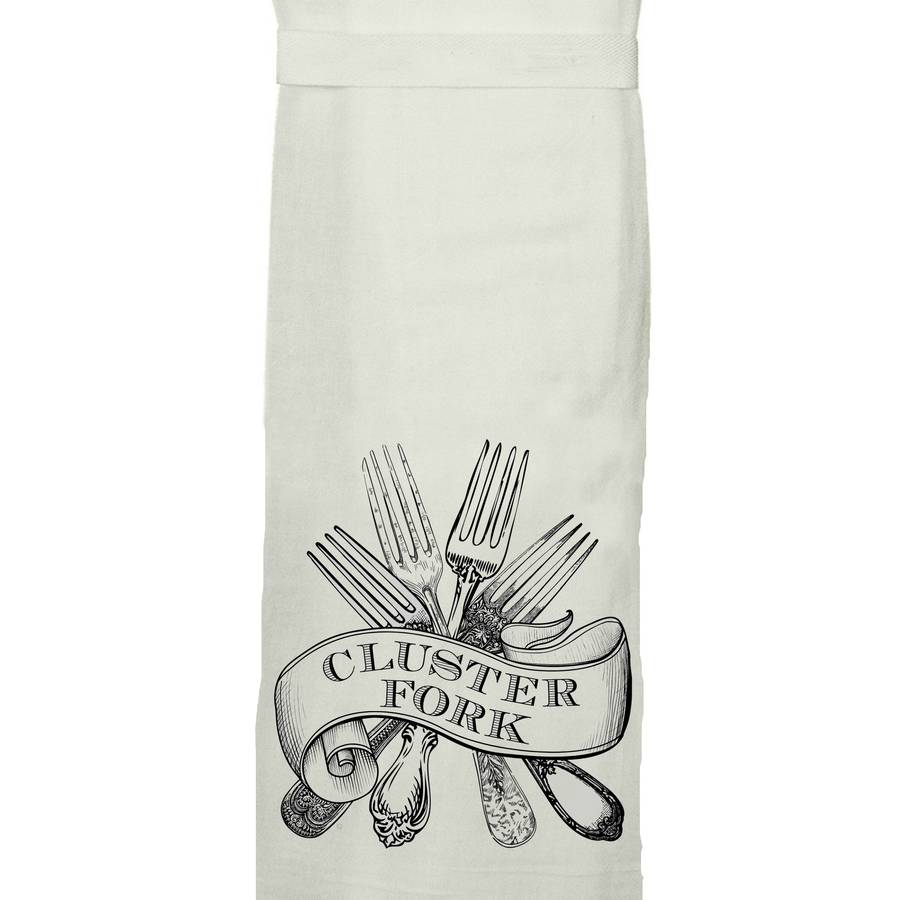 Cluster Fork - Tea Towel