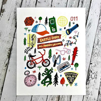STRANGER THINGS ICONS PRINT