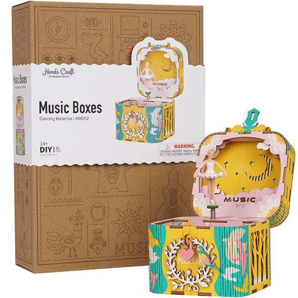 3D WOODEN PUZZLE MUSIC BOX - BALLERINA