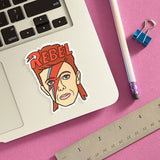 DAVID BOWIE REBEL STICKER