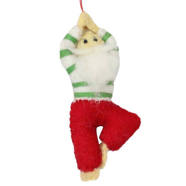 FELT ORNAMENT - YOGA SANTA