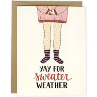 YAY FOR SWEATER WEATHER CARD