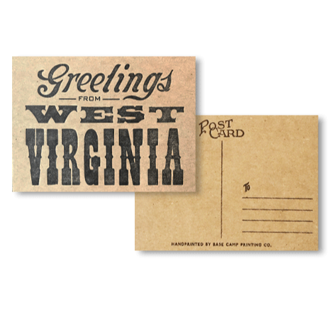 GREETINGS FROM WEST VIRGINIA POSTCARD