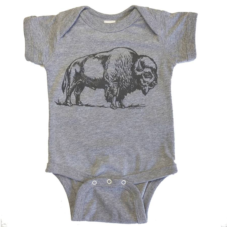 Grey Bison Onesie