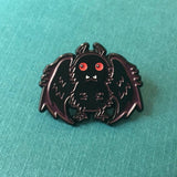 CUTE MOTHMAN ENAMEL PIN