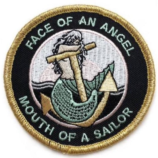 FACE OF AN ANGEL - MOUTH OF A SAILOR PATCH