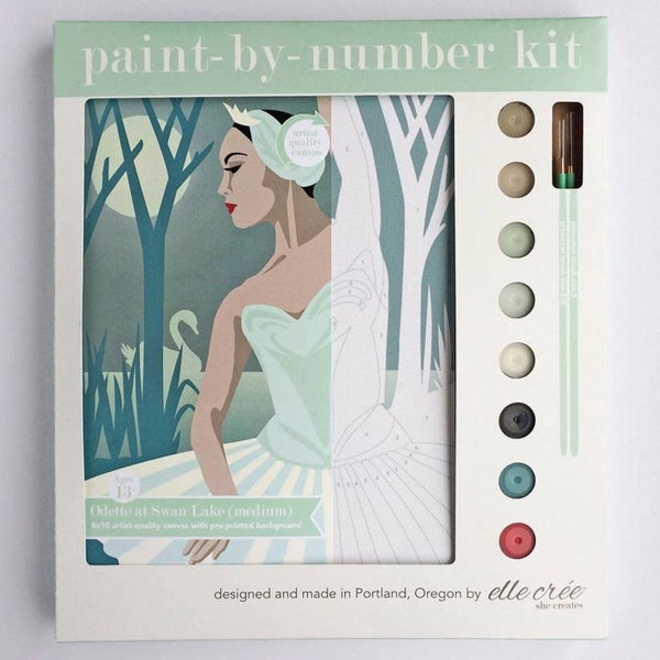 ODETTE AT SWAN LAKE PAINT BY NUMBERS KIT