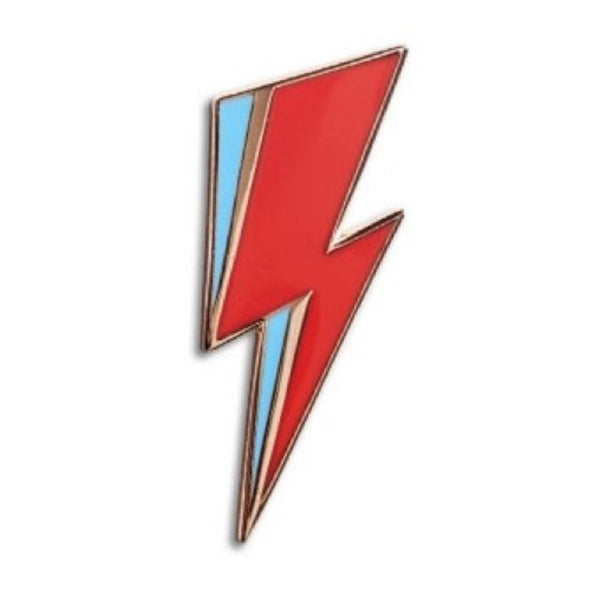 BOWIE LIGHTNING BOLT ENAMEL PIN