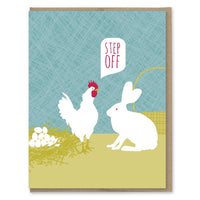 STEP OFF THE EGGS CARD