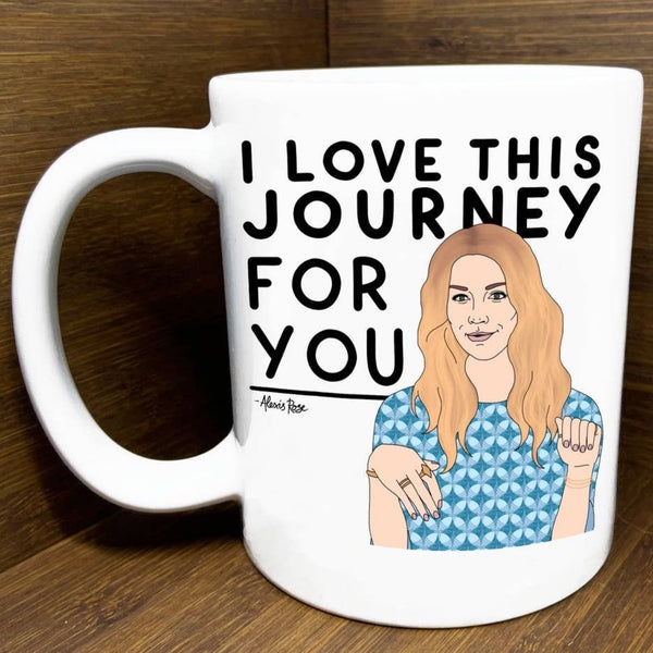 I LOVE THIS JOURNEY SCHITT'S CREEK MUG