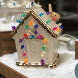 LIGHTED HOLIDAY GINGERBREAD HOUSE PREORDER