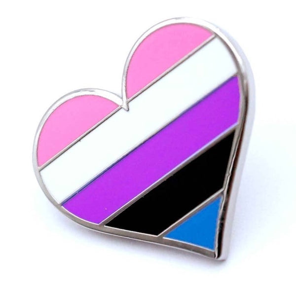 GENDER FLUID PRIDE HEART ENAMEL PIN