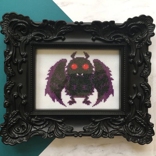 MOTHMAN COUNTED CROSS-STITCH KIT