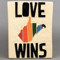 LOVE WINS RAINBOW WV WALL PLAQUE