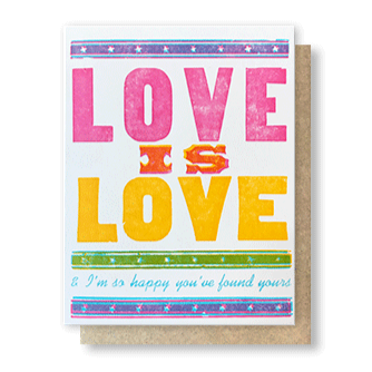 LOVE IS LOVE WEDDING CARD