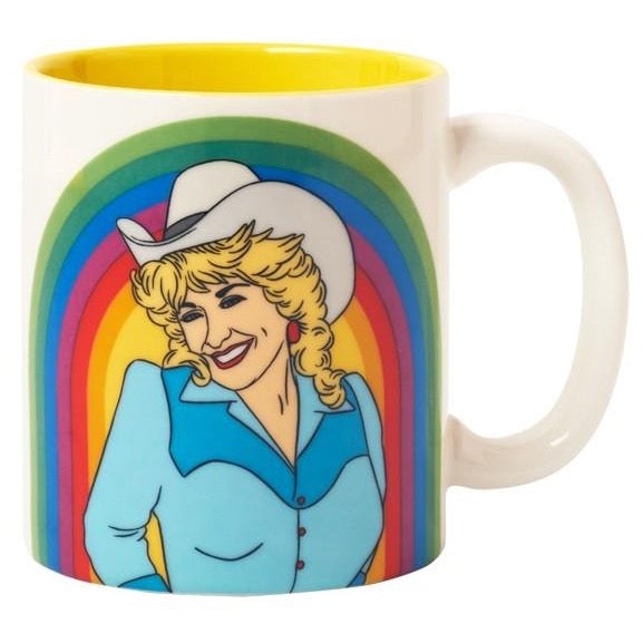 DOLLY PARTON RAINBOW MUG