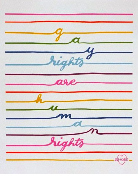 GAY RIGHTS ARE HUMAN RIGHTS PRINT