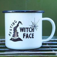 CAMP MUG - RESTING WITCH FACE
