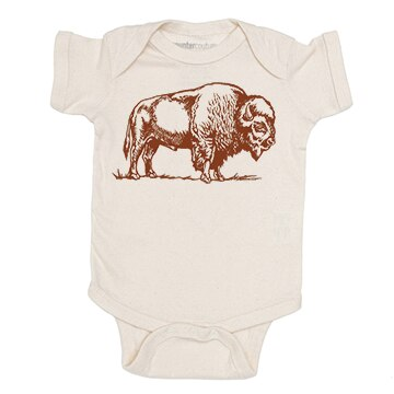 Natural Bison Onesie