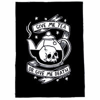 TEA OR DEATH SEW ON PATCH