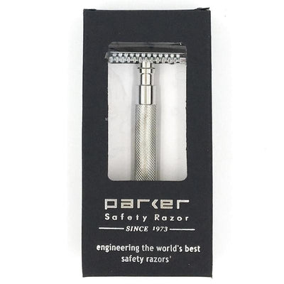 68S Stainless Steel Safety Razor - Lather and Blade