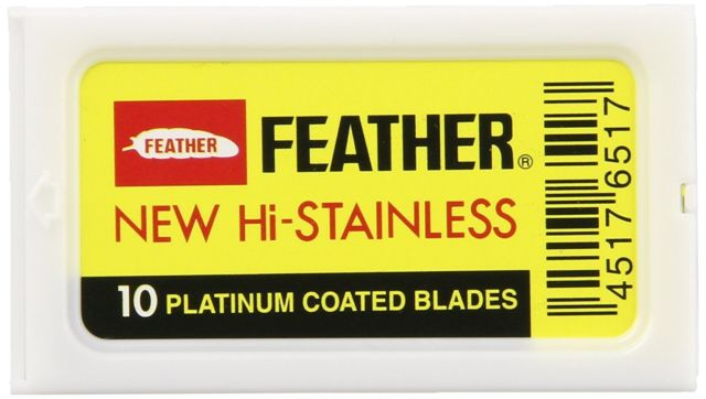 Feather 10 Count Safety Razor Blades - Lather and Blade