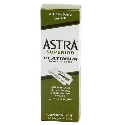 Astra 100 Count Platinum Blades for Safety Razor - Lather and Blade