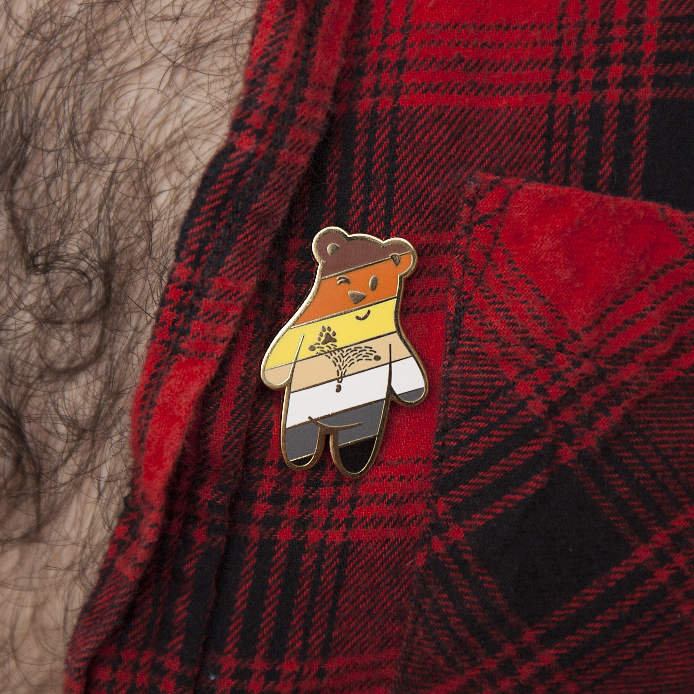 Bear Buddy Pin - GAYPIN'