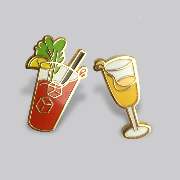 Brunch Buddies Pin Set