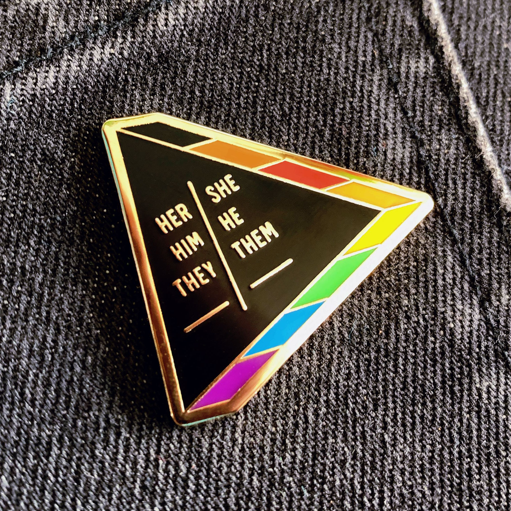 Pronouns pin - GAYPIN'
